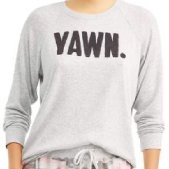 Yawn Long Sleeve Graphic Top